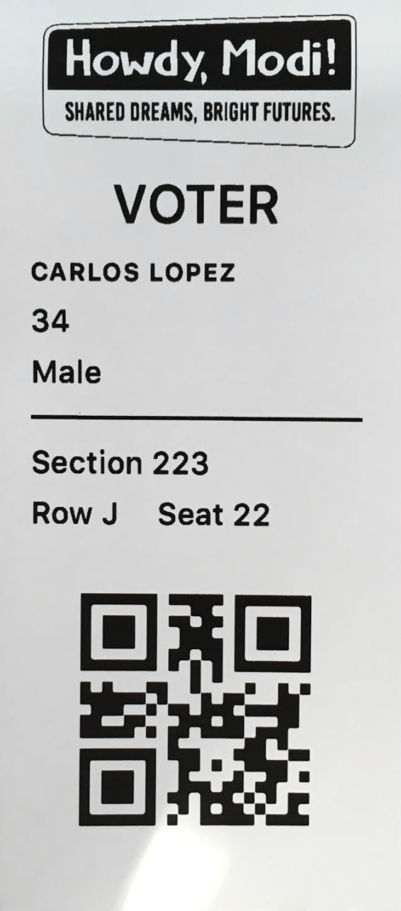 sample ticket printing app