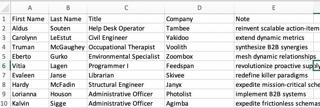 event check in spreadsheet with custom fields
