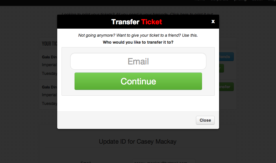 transfer your ticket online